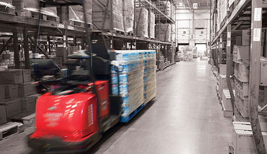 Automated material handling solutions: automated guided vehicles (AGVs) and automatic lift trucks and forklifts