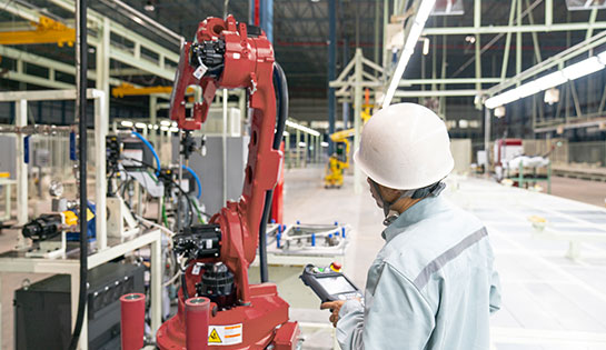 Automated material handling solutions: automated industrial robots