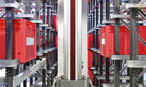 Automated storage and retrieval systems (AS/RS) offer high-density storage within a compact footprint for optimum space utilization.