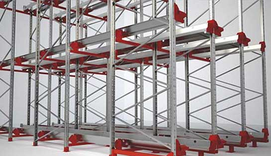 The racking structure for the Radioshuttle system can be custom configured to fit your needs