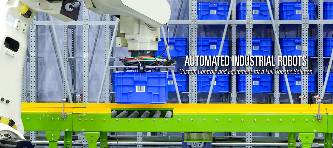 Pengate provides automated industrial robots with custom controls and equipment for a full automated robotic solution