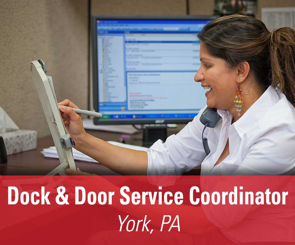 View job details for our available Dock & Door Service Coordinator position in York, PA.