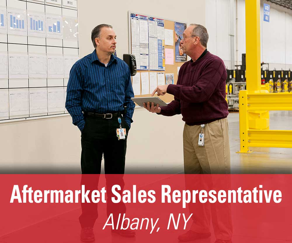 View job details for our available Aftermarket Sales Rep position in Albany, NY.