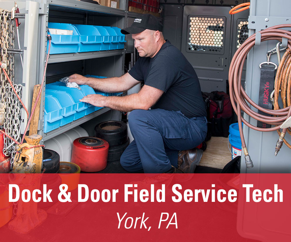 View job details for our available Dock & Door Field Service Technician position in York, PA.