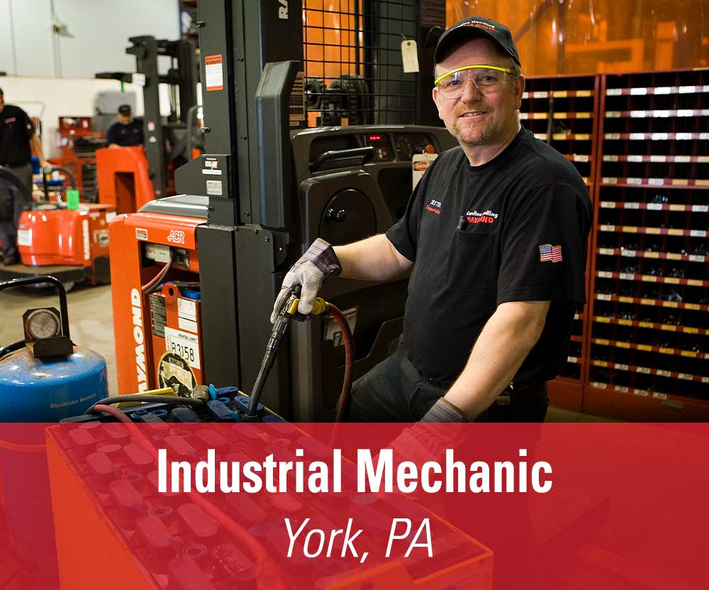View job details for our available Industrial Mechanic position in York, PA.