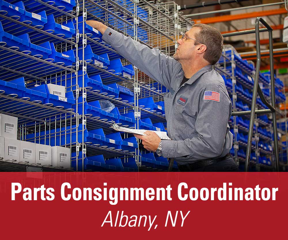 View job details for our available Parts Consignment Coordinator position for Albany, NY.