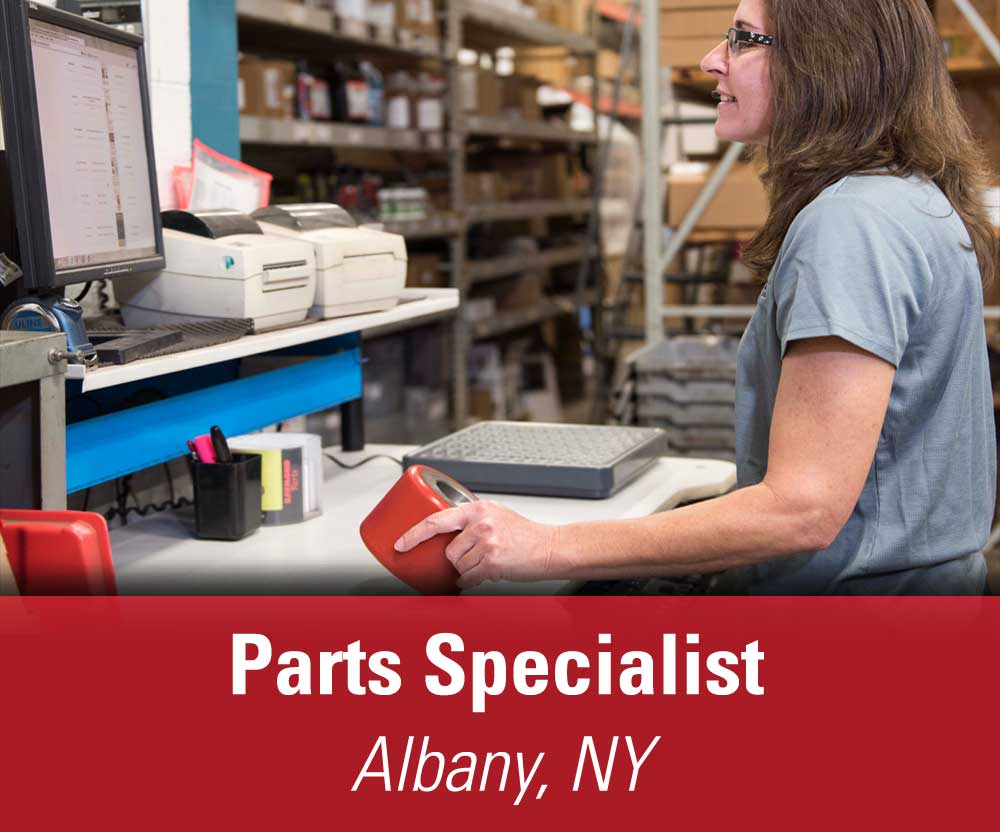 View job details for our available Parts Specialist position in Albany, NY.