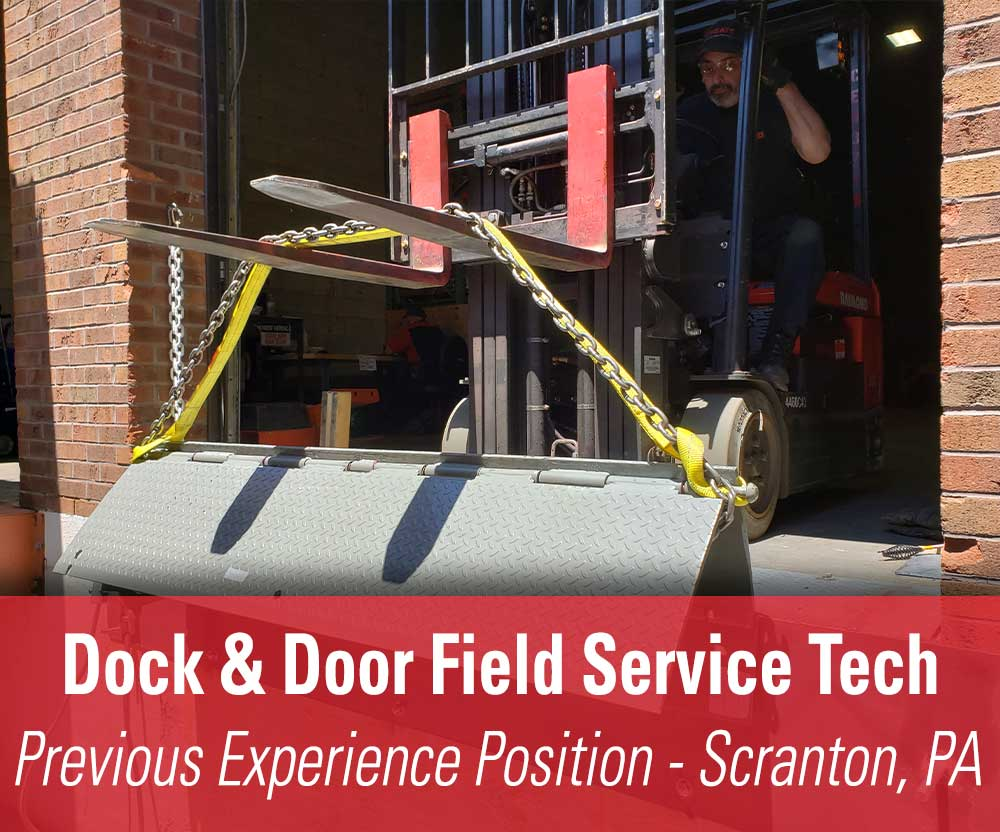 View job details for our available Previous Experience Dock & Door Field Service Tech position in Scranton, PA.