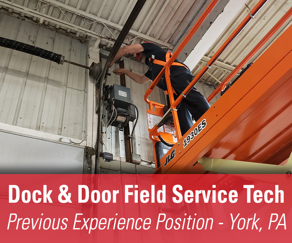 View job details for our available Previous Experience Dock & Door Field Service Tech position in York, PA.