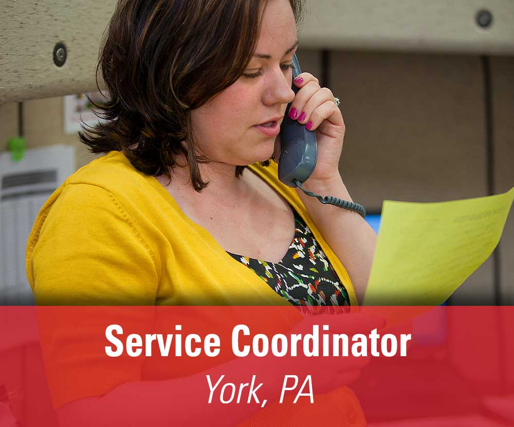 View job details for our available Service Coordinator position in York, PA.