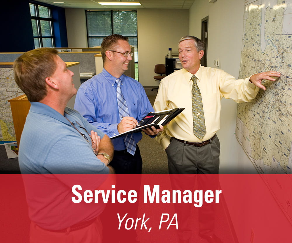 View job details for our available Service Manager position in York, PA.