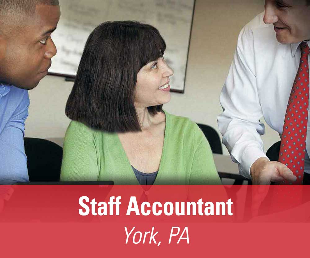 View job details for our available Staff Accountant position in York, PA.