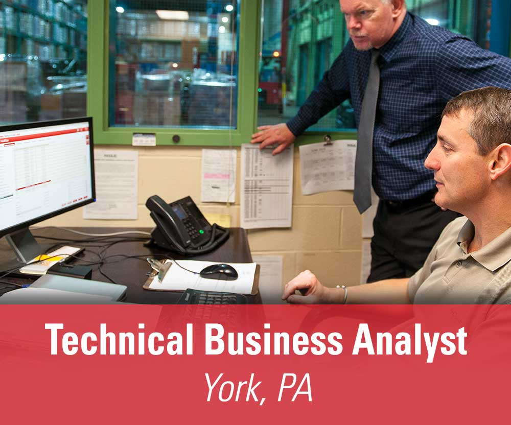 View job details for our available Technical Business Analyst position in York, PA.