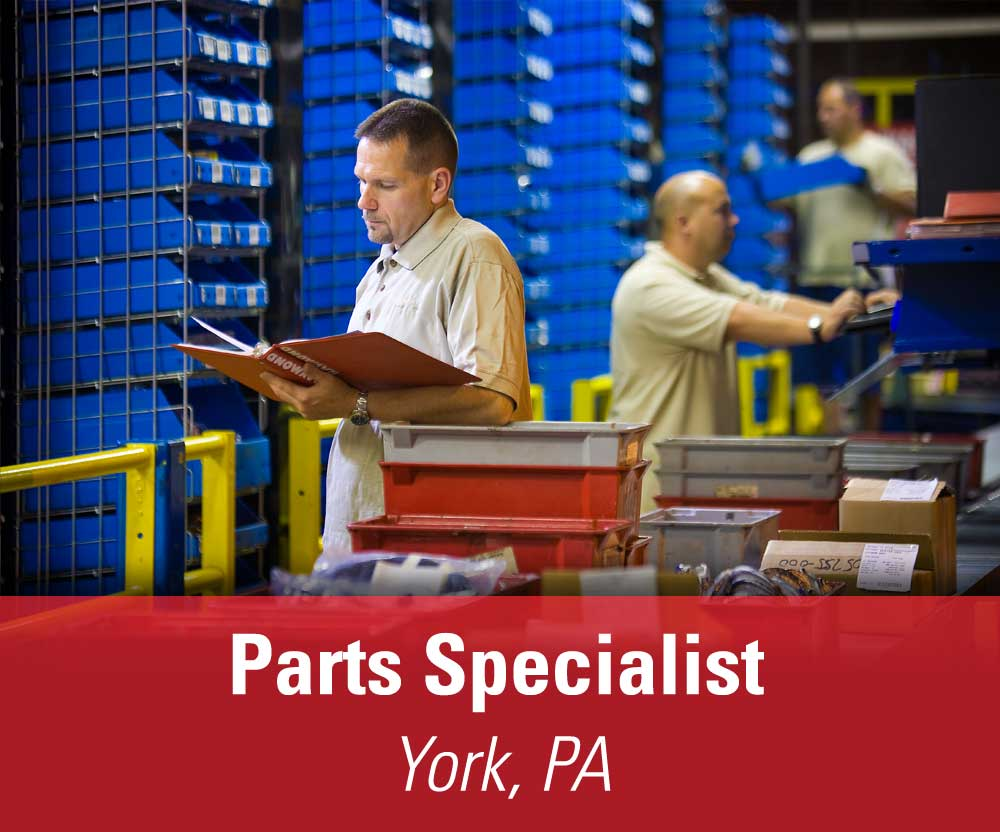 View job details for our available Parts Specialist open position in York, PA.