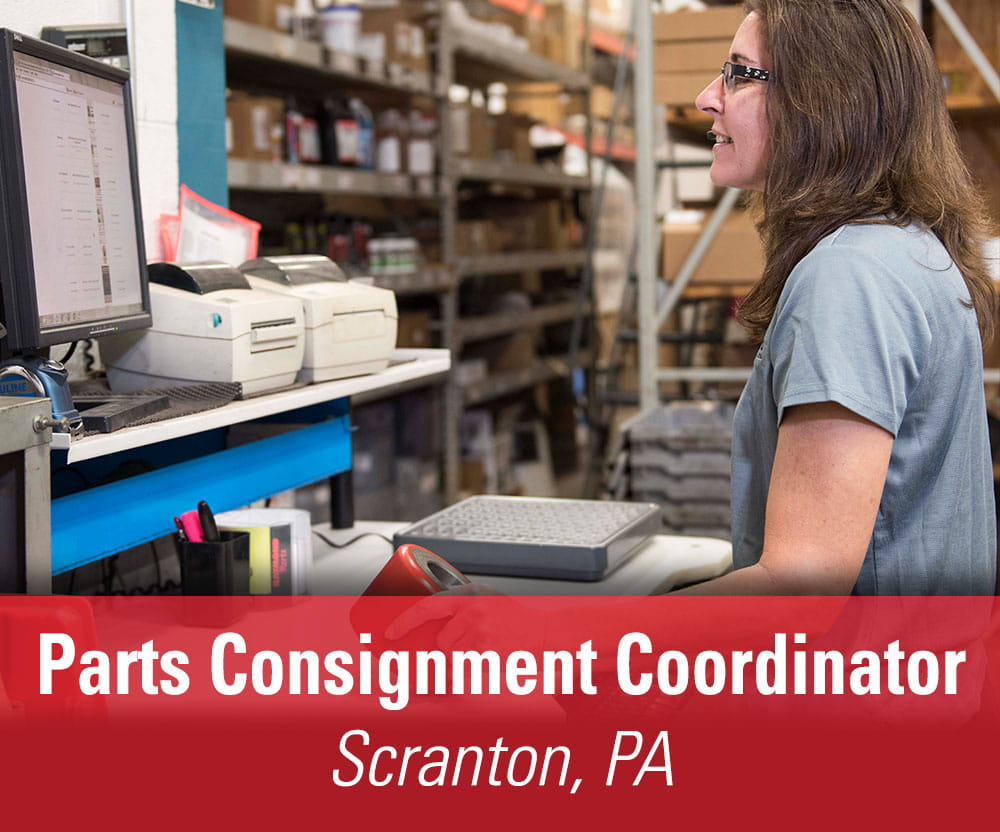 View job details for our available Parts Consignment Coordinator position in Scranton, PA.