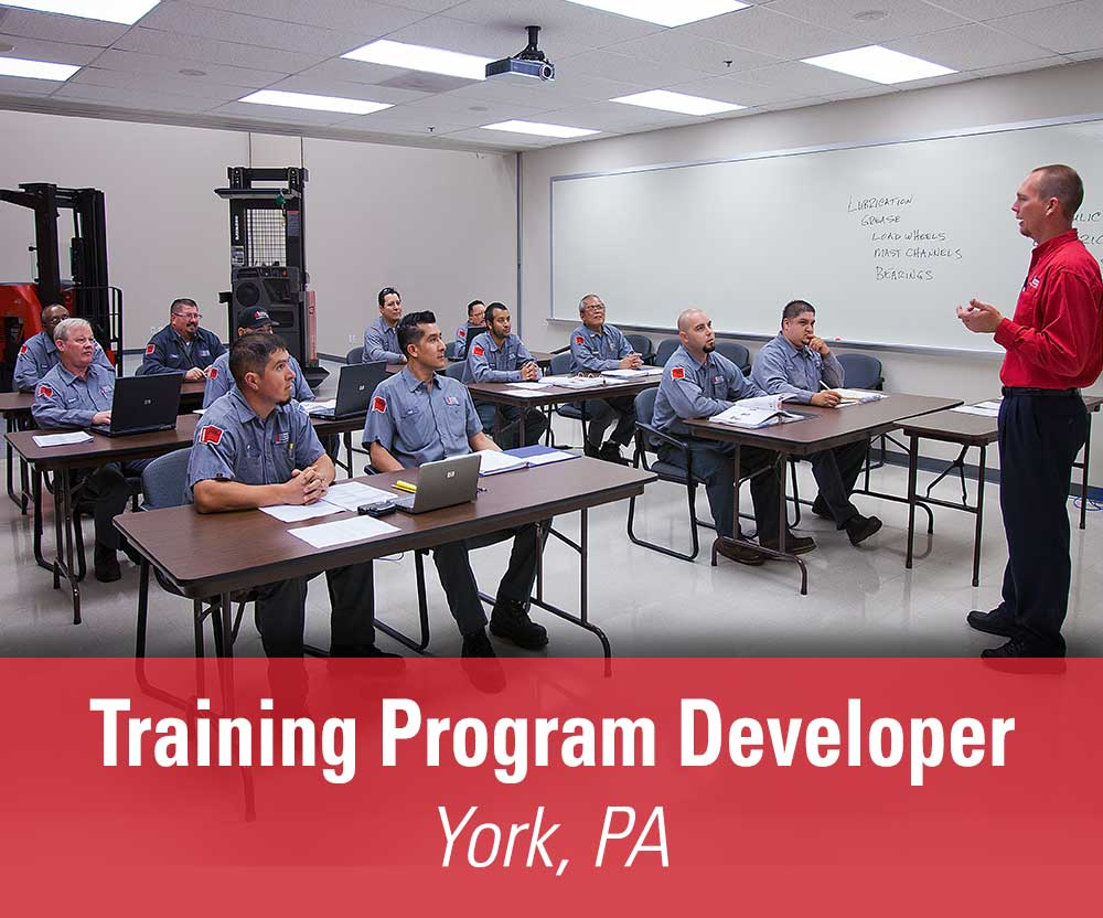 More details about our available Training Program Developer position in York, PA
