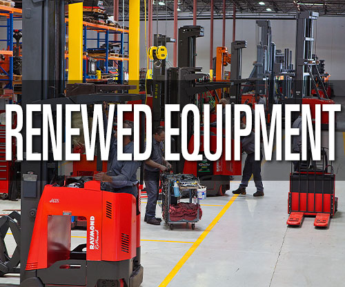 Renewed equipment, used forklift, and pre-owned warehouse equipment solutions from Pengate Handling Systems
