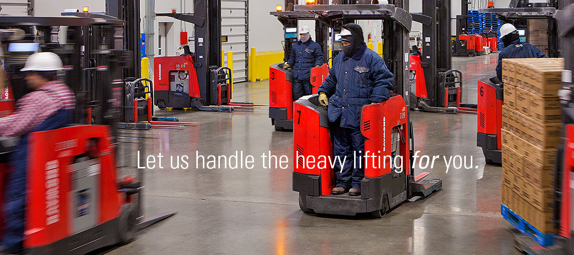 Let us handle the heavy lifting for you with a variety of forklift options, including new Raymond lift trucks, used forklifts and forklift rental options.