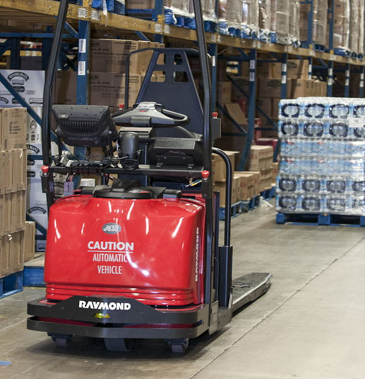 Raymond automated lift trucks, AGVs and 3000 series courier forklift trucks