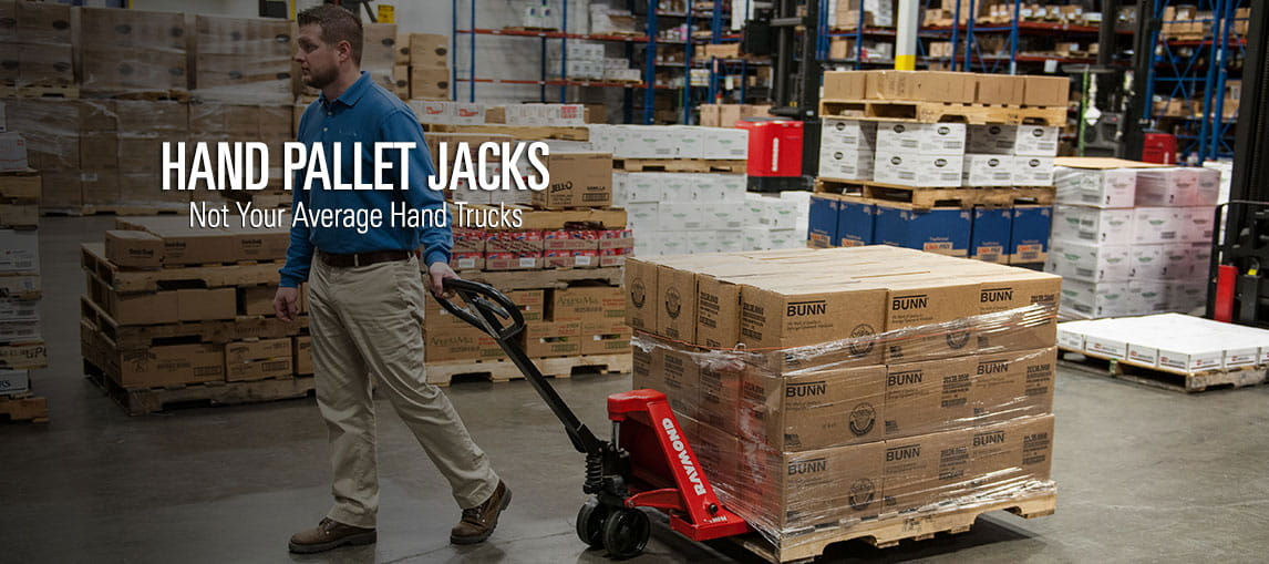 Raymond's vast selection of hand pallet jacks aren't your average manual hand trucks