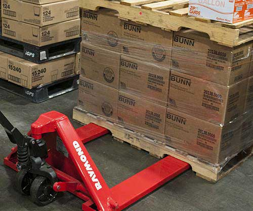 Raymond manual pallet jacks and hand pallet jacks have excellent durability