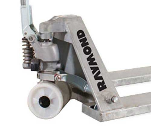 Raymond manual pallet jacks and hand pallet jacks have excellent versatility
