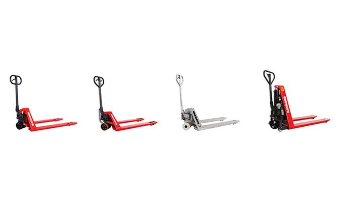 Beauty shot of Raymond hand pallet jacks