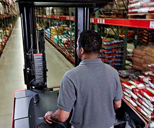 Raymond forklift lift trucks help increase warehouse productivity