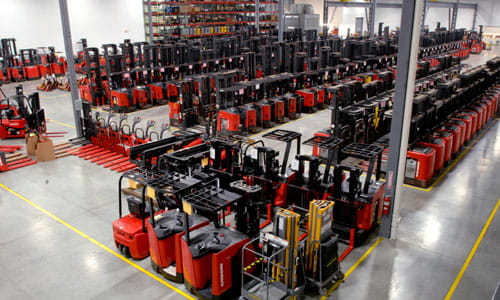 Pengate's fleet of forklift rentals is fully stocked with rental lift trucks, including reach trucks and pallet jacks.