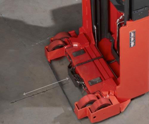 Raymond electric swing reach fork trucks provide increased warehouse productivity