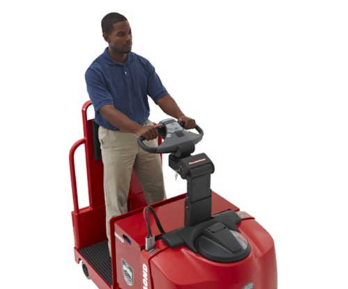 Raymond electric tow tractors have excellent ergonomics and safety features