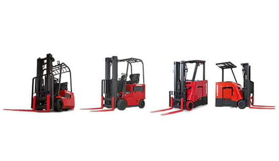 Browse our selection of stand up and sit down counterbalance lift trucks