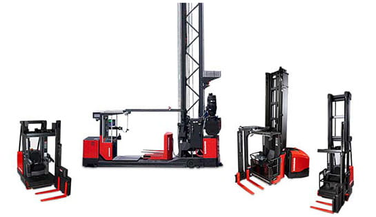 Browse our selection of turret trucks and swing reach forklifts