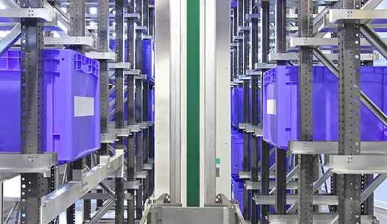 Automated storage and retrieval system (AS/RS) in warehouse setting
