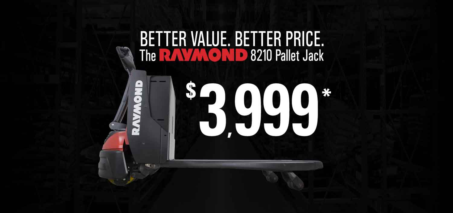 Details about the Raymond 8210 pallet jack promotion
