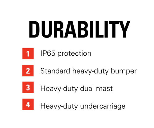 Features of the Raymond 8720 Orderpicker: Durability