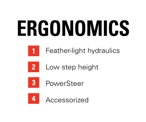 Features of the Raymond 8720 Orderpicker: Ergonomics