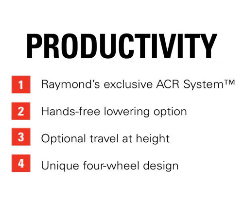 Features of the Raymond 8720 Orderpicker: Productivity