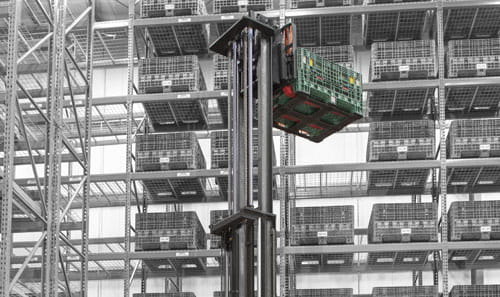 Store slow-moving items higher in your warehouse with the new high-capacity reach-fork truck from Raymond.