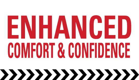 Enhanced operator comfort and confidence