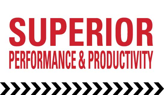 Superior performance and productivity