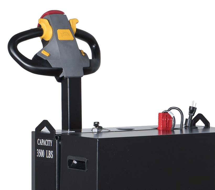 Beauty shot of the LRW35 motorized pallet jack's battery charger