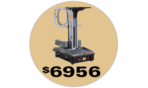 The Lift-Rite SpinGo aerial lift, currently on sale for $6,956.