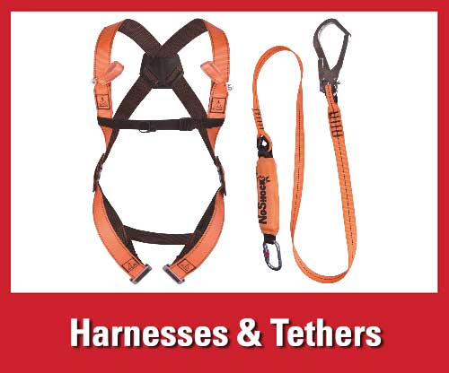 25% off featured warehouse safety products: fall protection harnesses and tethers