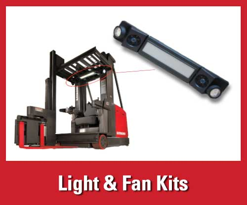 25% off featured warehouse safety products: forklift light and fan kits