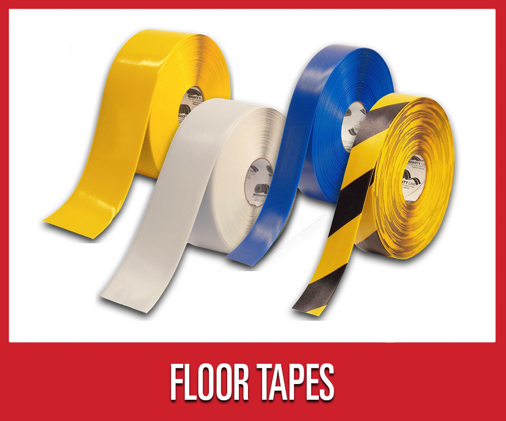 Save 25% on warehouse shop supplies and tools, including select multi-color floor tapes