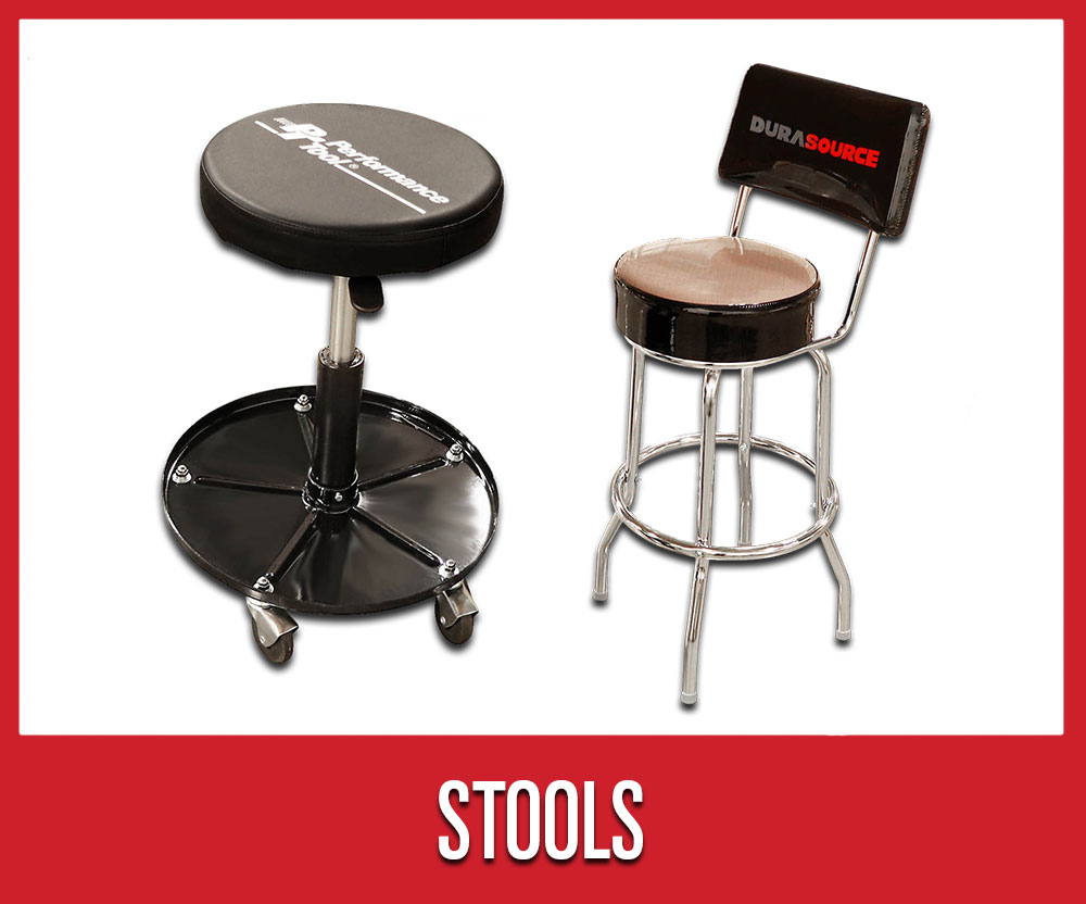 Save 25% on warehouse shop supplies and tools, including select performance work stools
