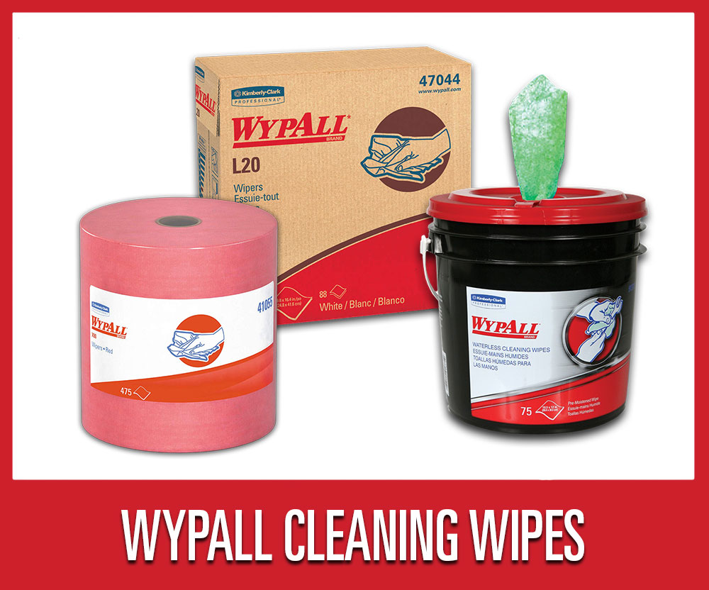 Save 25% on warehouse shop supplies and tools, including select WypAll brand cleaning supplies and wipes