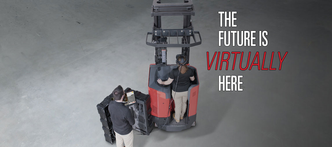 The future of training is virtually here with the new virtual reality simulator from Raymond