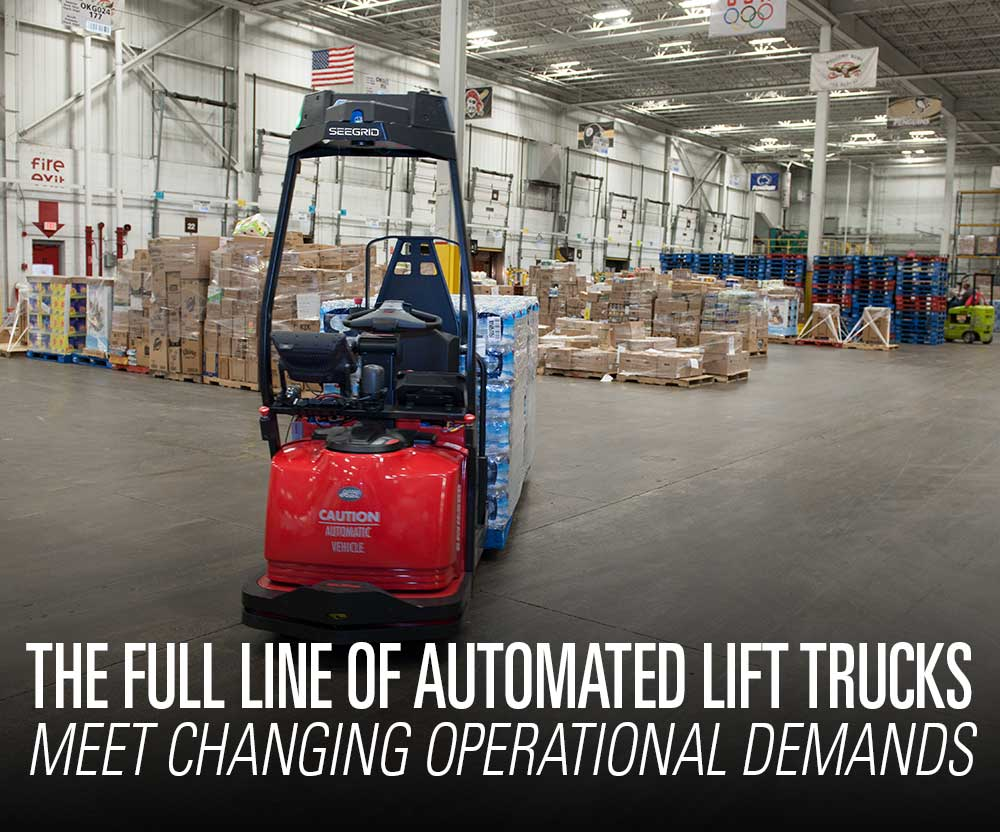Featured product booth: The full line of Raymond automated lift trucks and couriers to meet your changing operational demands